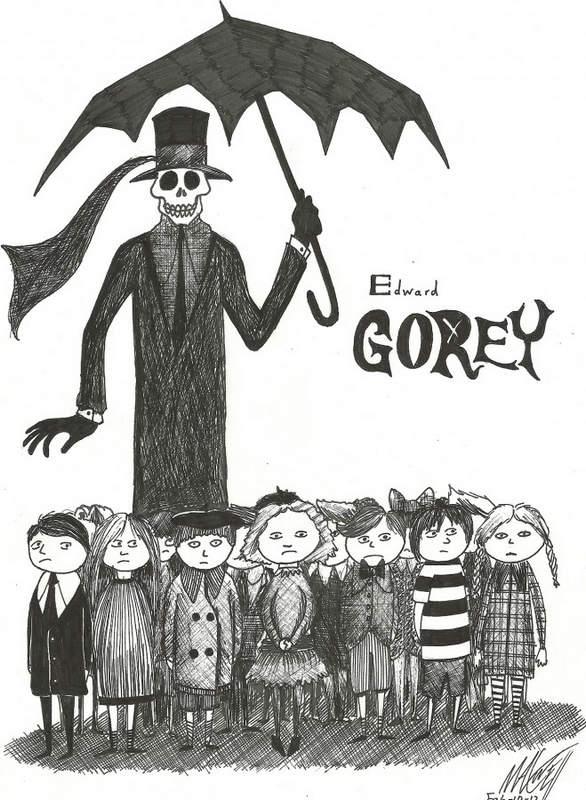 Эдвард Гори и его черно-белый мир (Edward St. John Gorey)