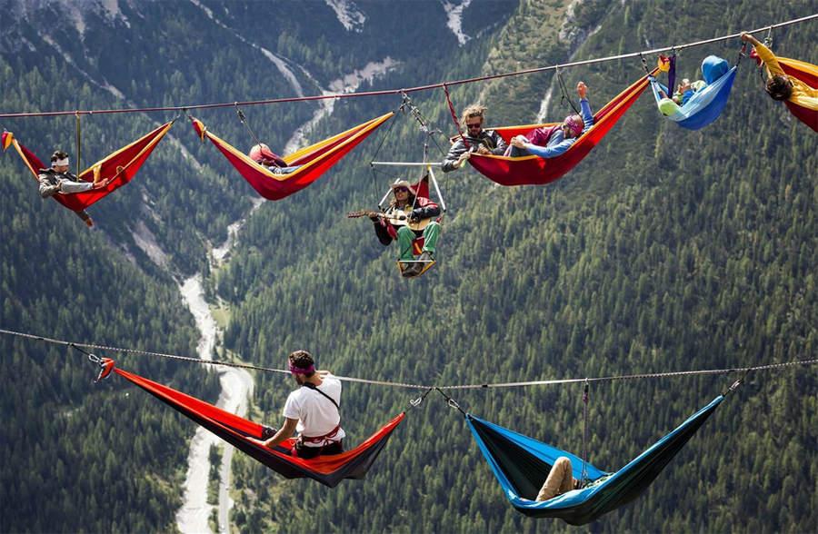 Встреча International Highline Meeting в Монте Пиано