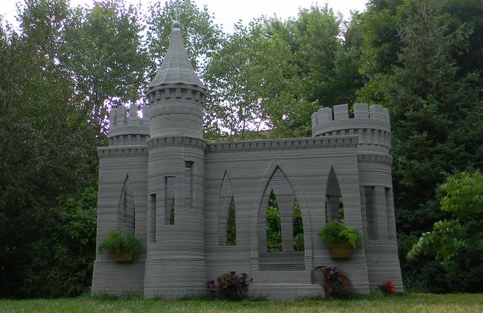 Замок напечатанный с 3-D принтером 10 самых невероятных строений, созданных одним человеком