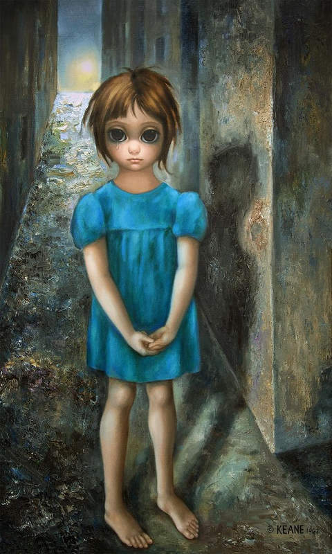 The First Grail by Margaret Keane, Courtesy Keane Eyes, San Francisco.
