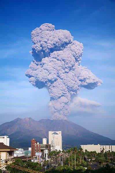 Самые активные вулканы в мире Сакурадзима