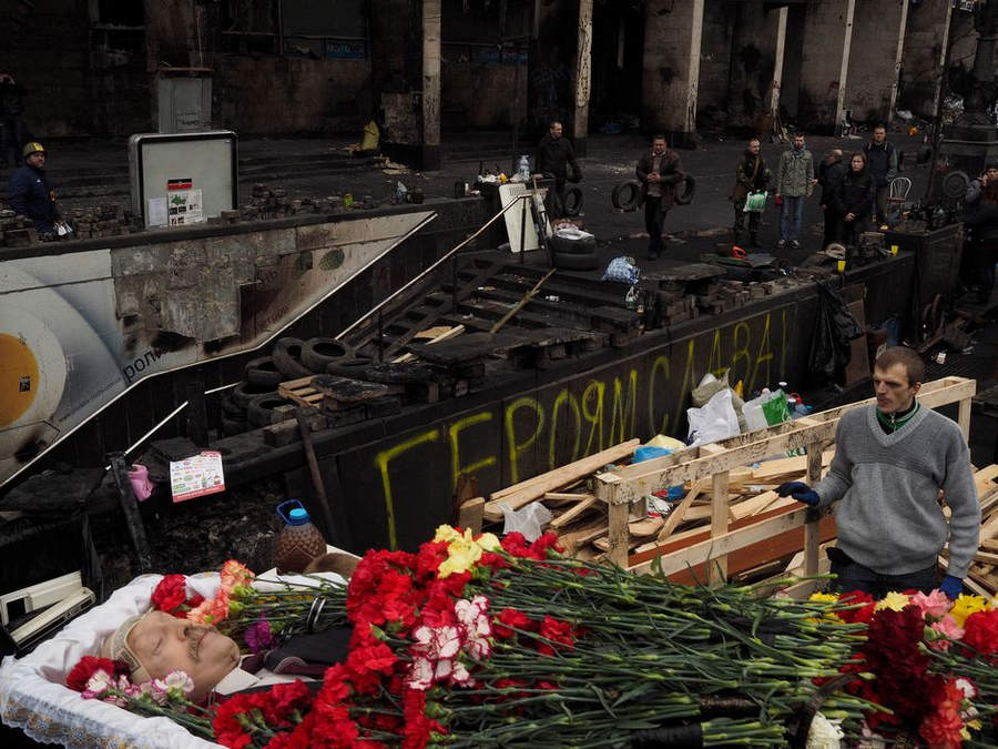 Украинская революция глазами Жерома Сессини (Jerome Sessini) 16
