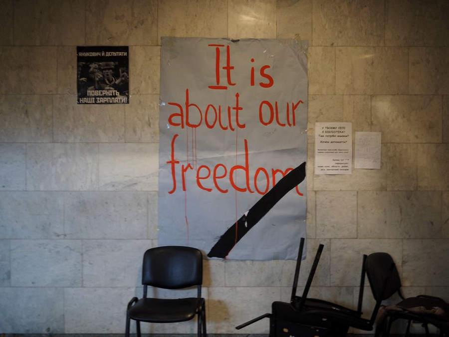 Украинская революция глазами Жерома Сессини (Jerome Sessini) 2