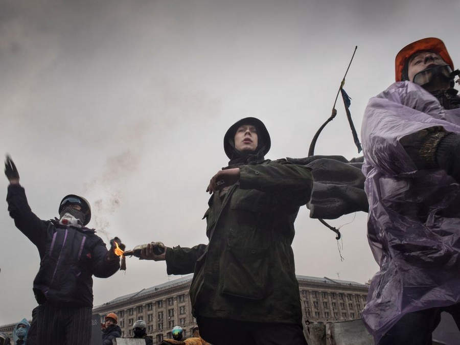 Украинская революция глазами Жерома Сессини (Jerome Sessini) 32