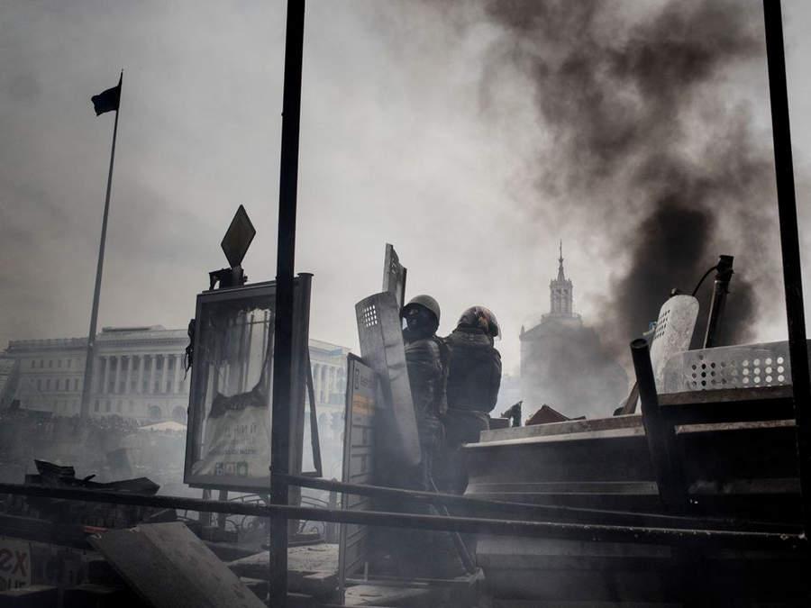 Украинская революция глазами Жерома Сессини (Jerome Sessini) 34