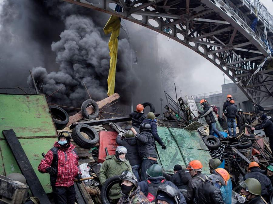 Украинская революция глазами Жерома Сессини (Jerome Sessini) 35