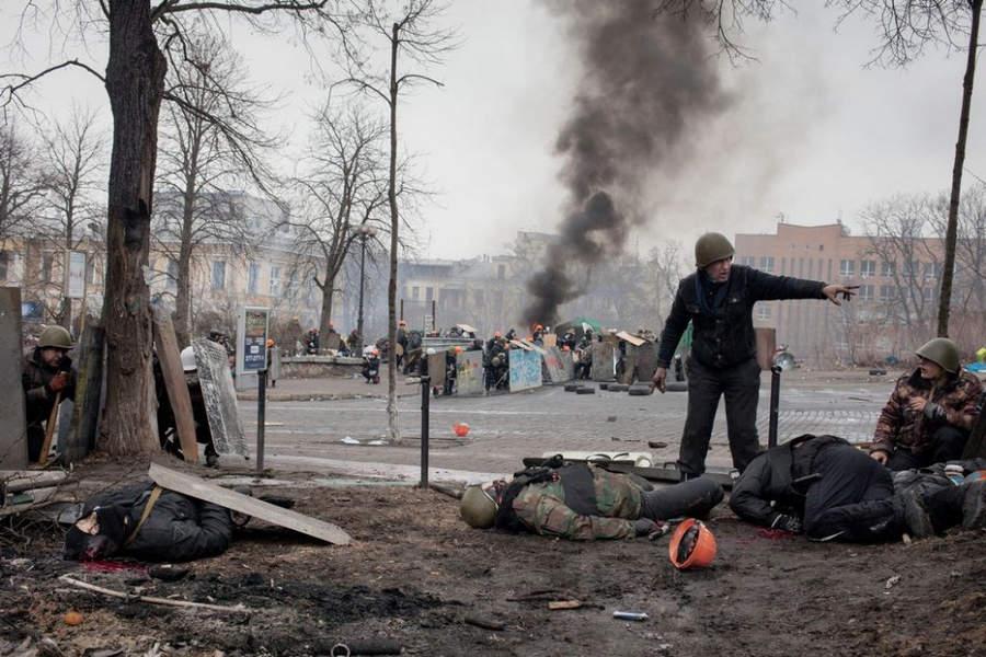 Украинская революция глазами Жерома Сессини (Jerome Sessini) 36