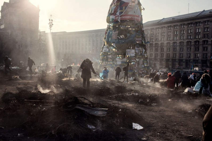 Украинская революция глазами Жерома Сессини (Jerome Sessini) 39