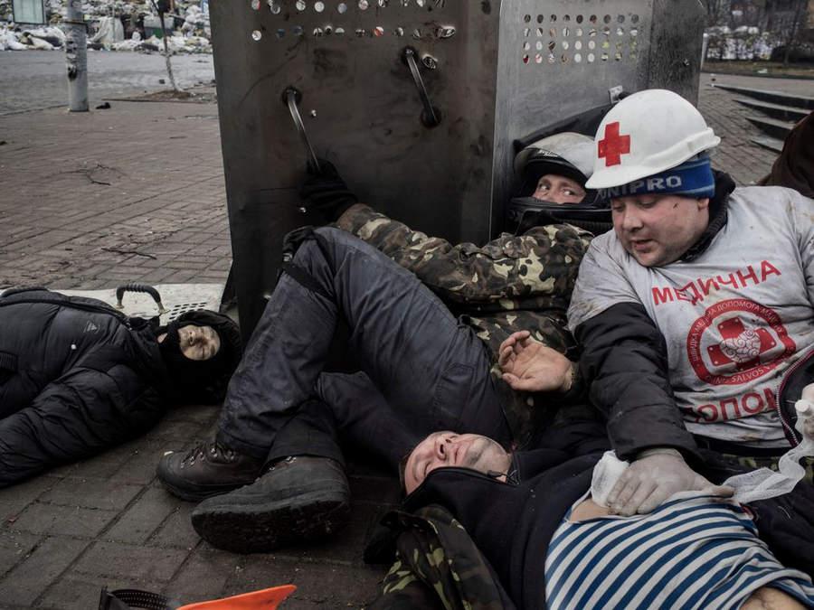 Украинская революция глазами Жерома Сессини (Jerome Sessini) 45