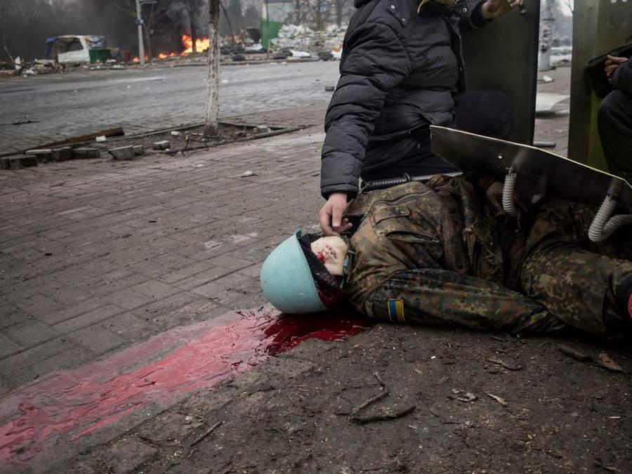 Украинская революция глазами Жерома Сессини (Jerome Sessini) 46