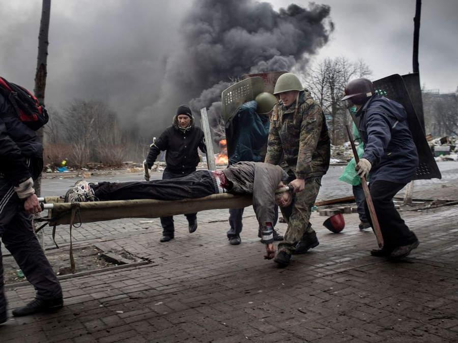 Украинская революция глазами Жерома Сессини (Jerome Sessini) 47