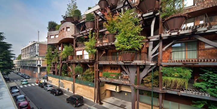 Дерево-дом в Турине от архитектора Лучиано Пиа (Luciano Pia)