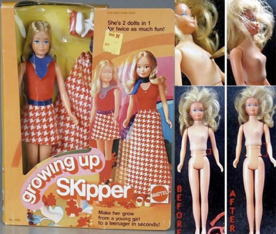 Самые странные куклы Barbie Топ-10 Growing Up Skipper