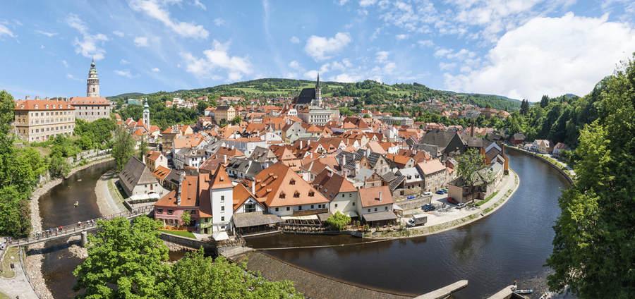 Чески Крумлов, невероятно колоритная и сказочная деревня в Южной Чехии