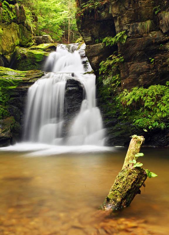 Водопад в Моравии