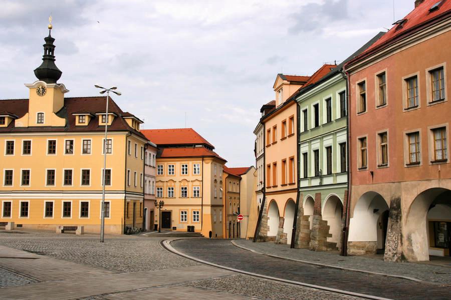Старый город Градец Кралове в Чехии.