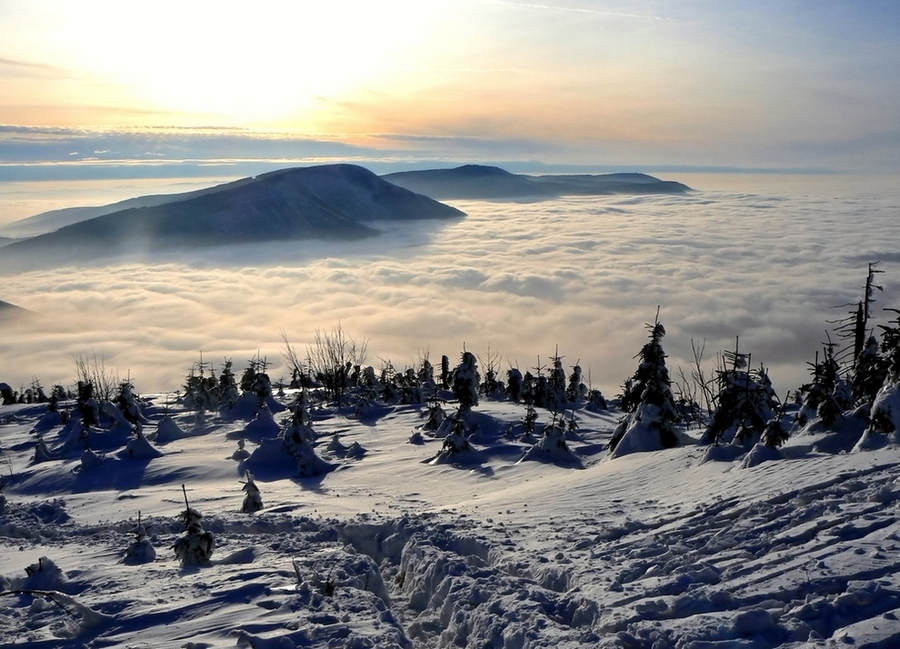 Пейзажи зимней Чехии