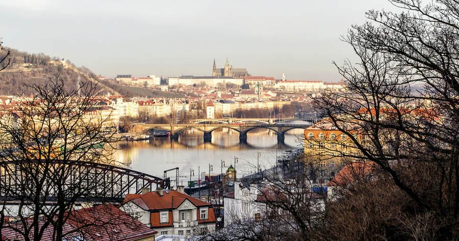 Мосты на реке Влтава в Праге.