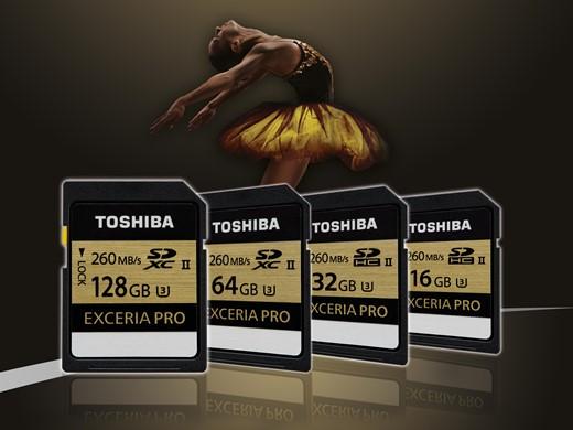 Высокоскоростные карты памяти Toshiba Exceria Pro SD емкостью 64 Гб и 128 Гб