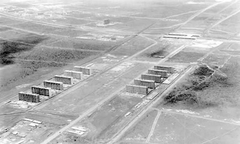 Фотография начала строительства Бразилии, 1960