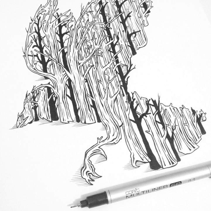 Многоуровневые иллюстрации животныхТьяго Бианчини (Thiago Bianchini) 12