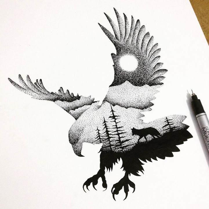 Многоуровневые иллюстрации животныхТьяго Бианчини (Thiago Bianchini) 2