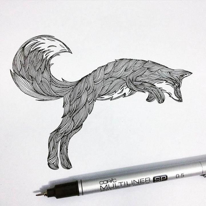 Многоуровневые иллюстрации животныхТьяго Бианчини (Thiago Bianchini) 5