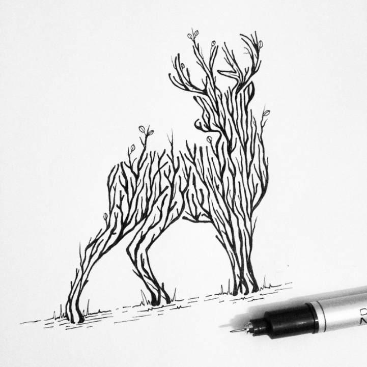 Многоуровневые иллюстрации животныхТьяго Бианчини (Thiago Bianchini) 6]