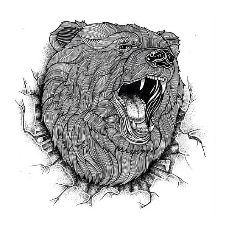 Многоуровневые иллюстрации животныхТьяго Бианчини (Thiago Bianchini) 8