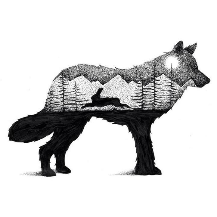 Многоуровневые иллюстрации животныхТьяго Бианчини (Thiago Bianchini)