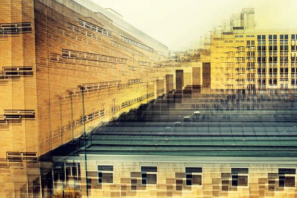 Идея абстрактного городского пейзажа