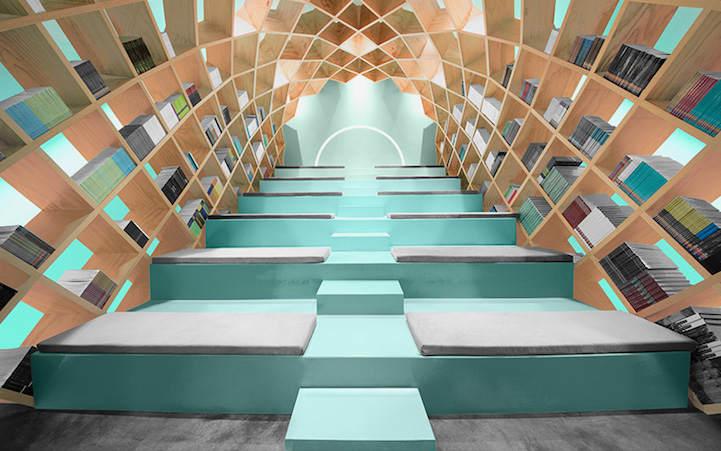 Необычная библиотека в Мехико