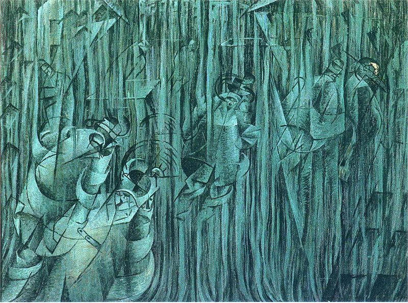 Итальянский футуризм Умберто Боччони (Umberto Boccioni) 13