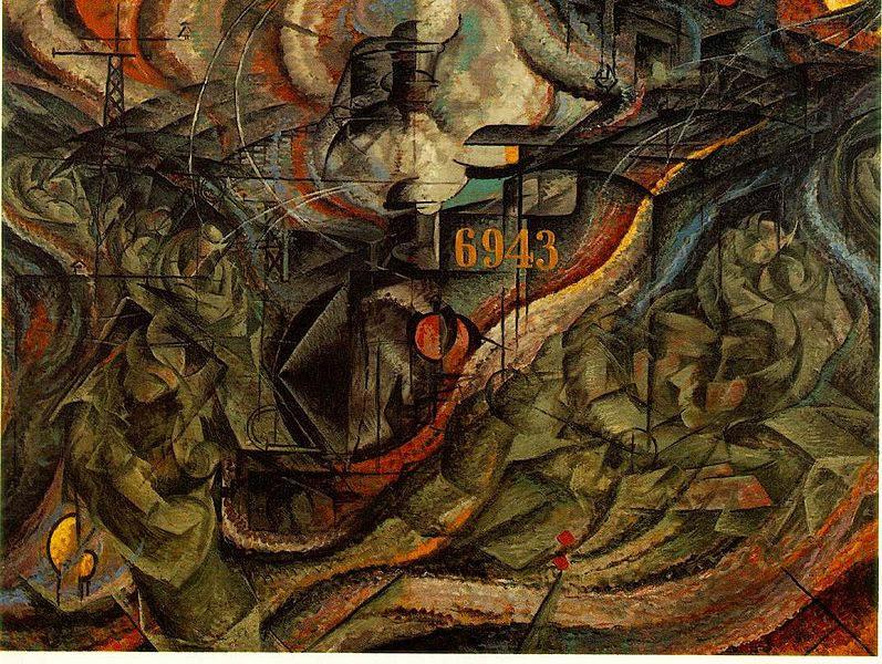 Итальянский футуризм Умберто Боччони (Umberto Boccioni) 9