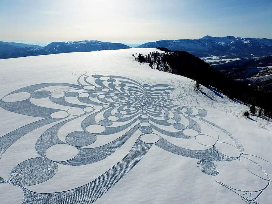 Саймон Бек (Simon Beck) и его гигантские картины на открытом воздухе 3