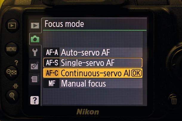 Как выбрать оптимальный режим автофокусировки Движущийся объект