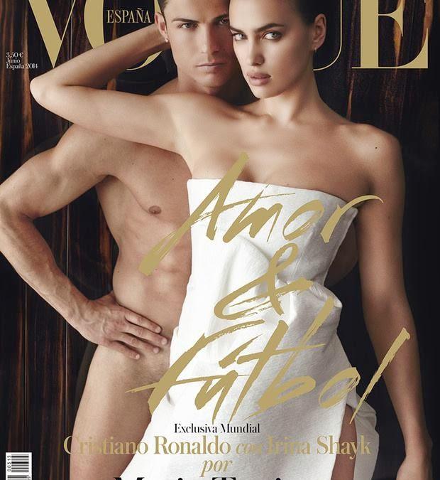 Ирина Шейк и Криштиану Роналду для Vogue Испания