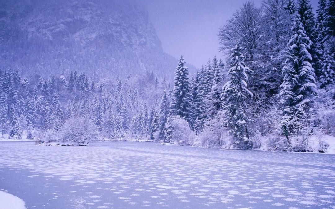 Красочные обои с зимними пейзажами
